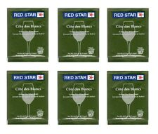 EXPIRED WINE YEAST 10 PACKS RED STAR COTE DES BLANCS FOR WHITES and CIDERS Côte