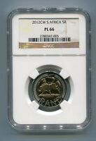 South Africa 2012 R5 Oom Paul Cw PL 66 Coin Ngc Certified - First Proof Likes