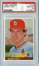 1984 Donruss #449 Danny Cox - Cardinals Psa 10 Gem Mint Pop 17