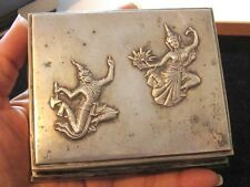 Vintage Siam Bangkok Dancers Thailand Sterling Silver Jewelry Box*925*300g*D128