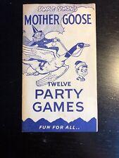 "Simple Simon's Mother Goose ""Twelve Party Games"" 1940's memorabilia, very rare"