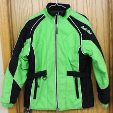 Youth 14 Arctic Cat CATGIRL Nylon Snowmobile Coat VAPOR GREEN - GREAT Condition!
