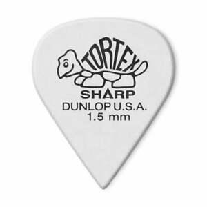 Jim Dunlop Tortex 1.50 Sharp Guitar Plectrums 12-Pack