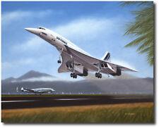 Tahiti Takeoff by Mike Machat - Air France Concorde - Aviation Art Print