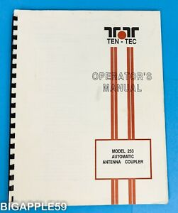 Ten-Tec Model 253 Automatic Antenna Coupler Original Owner's Manual