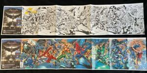 Justice League of America (JLA) #1 SDCC 1:100 GATEFOLD VARIANT (2015) COVERS