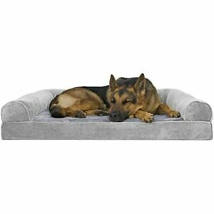 Furhaven Pet Dog Bed   Therapeutic Sofa-Style Traditional Living Room Couch Pet