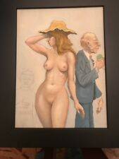 MICHAEL DORMER (b.1935) LISTED VINTAGE Nude Painting In Progress Before He Died