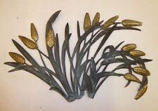 LARGE MID CENTURY WALL SCULPTURE BRASS PATINATED CORN BRUTALIST ERA WILLY DARO