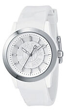 NEW DKNY WHITE POLYURETHANE PLASTIC BOYFRIEND LADY,LOGO DIAL WATCH NY4861