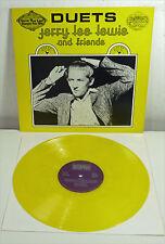 "JERRY LEE LEWIS "" Duets "" NM yellow Vinyl LP SUN Rock 'n' Roll Elvis JOHNNY CASH"