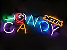 """New Candy Shop Neon Light Sign 17""""x10"""" Real Glass Home Wall Decor Lamp Display"""