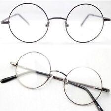 Agstum Vintage Retro Round Gray Spring Hinge Glasses Frames RX Cle