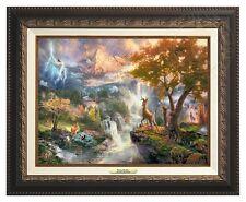 Thomas Kinkade - Disney's Bambi Canvas Classic (Aged Bronze Frame)