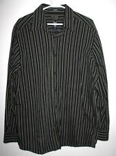 AXCESS CLASSIC FIT MEN'S LONG SLEEVE BUTTON FRONT SHIRT LARGE