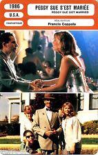 Fiche Cinéma. Movie Card. Peggy Sue s'est mariée/Peggy sue got married (USA)1986