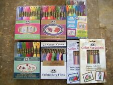 Lot of 7 Boxes (Total 167) DMC Skeins Assorted Colors Embroidery Floss Thread
