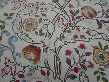 William Morris Curtain Fabric 'Mary Isobel' 1.2 METRES Rose/Slate 100% Linen