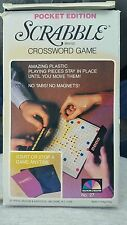 New! HTF! Scrabble Brand Crossword Game Pocket Edition vintage