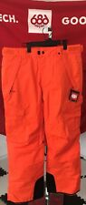 2020 NWT 686 Infinity Cargo Pant Pants Mens L Large Snowboard 10K Orange c16