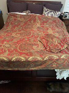 Pottery Barn Caroline Paisley Full/queen Duvet  Pillow Cover Shams Lot See Pics