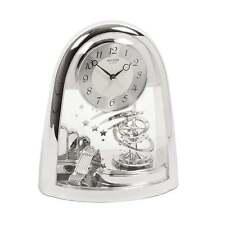 Widdop Bingham Arched Silver Tone Spiral Pendulum Mantel Clock BNIB 4SG607WS19