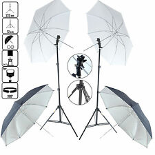 DynaSun KUBSF Kit d'éclairage Trépied Douille Parapluie Blanc Argent pour Flash