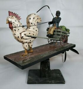 """Whirligig Ted & Barb Alfred """"Watermelon Cart""""  13 of 25 Signed/Numbered RARE"""