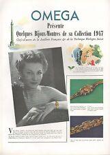 ▬► PUBLICITE ADVERTISING AD MONTRE WATCH OMEGA 1947 bijoux-montres