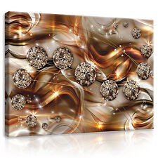 CANVAS Wandbild Leinwandbild Bild Diamant Gold Welle Kunst Modern 3FX10576O1
