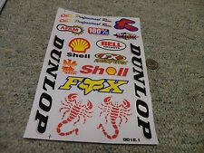 Decals / stickers R/C radio controlled Dunlop Shell FX Bell Shell Afam  M160