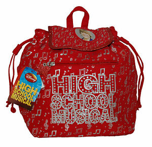 """HSM High School Musical Zak Efron Red Soft Canvas 10"""" x 6"""" x 11"""" Small Back Pack"""