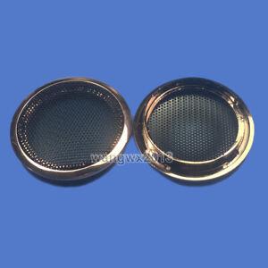 "2pc 2"" inch 66mm Tweeter Speaker Cover Decorative Circle Metal Mesh Grille #Pink"