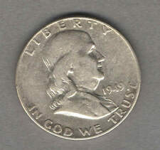 1949 US Franklin Half Dollar - SILVER - BETTER DATE - circulated
