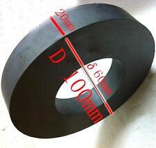 1PC Strong Black Dics Ferrite Y30 C8 Ceramic Ring Round Magnet D100x60x20mm  L に
