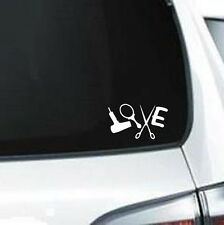 B282 Love Hairstylist Hair Design Scissors vinyl decal car sticker