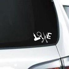 B282 Love Hairstylist Hair Design Scissors vinyl decal car sticker