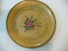 Antique English Hand Painted Tole Dish