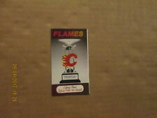 NHL Calgary Flames Vintage Circa 1988-89 Logo Hockey Pocket Schedule
