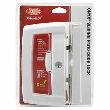Lockwood Onyx Sliding Patio Door Lock - White