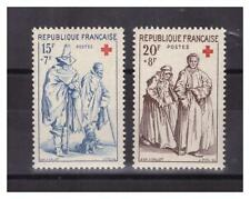 FRANCE  N °1140/1141.2  VALEURS CROIX  ROUGE   NEUVES    **. SUPERBE