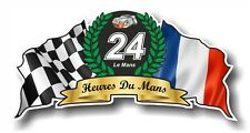 French Flag and Crest Design For Le Mans 24hr GT race Vinyl car sticker 100mm