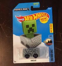 Minecart #24 * Grey Minecraft * 2017 Hot Wheels * Nf3