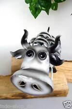 Lustig originell Kuh aus Metall filigran gearbeitet und bemalt Toller Dekotip
