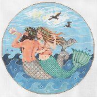 "Needlepoint Handpainted Sandra Gilmore SEA SONG 8.25"""