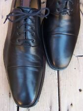 MAGNANNI Mens Dress Black Shoes Comfortable Cap Toe Lace Up Oxfords Size 10.5D