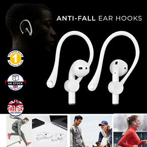 Sports Workout Wireless Earbud Hooks Clips for Air Pod Anti-Fall Anti-Loss WHITE