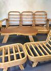 Vintage Rattan Sectional Sofa /Chair  biomorphic amoeba table Frankl SHIPPING