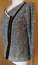 QS by S.Oliver Pullover Strickweste Jacke grau schwarz Gr.XXL