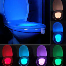 Led Bathroom Toilet Night Light with 8 Colors Sensor Lamp Motion Activated Light